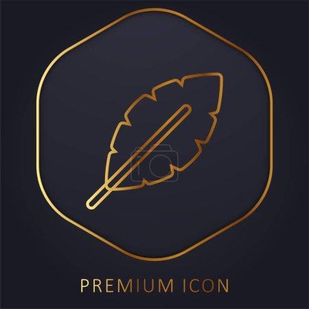 Illustration for Banana golden line premium logo or icon - Royalty Free Image