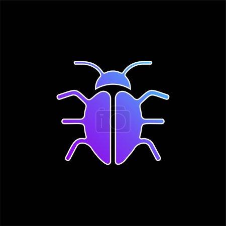 Photo pour Big Bug icône vectorielle gradient bleu - image libre de droit