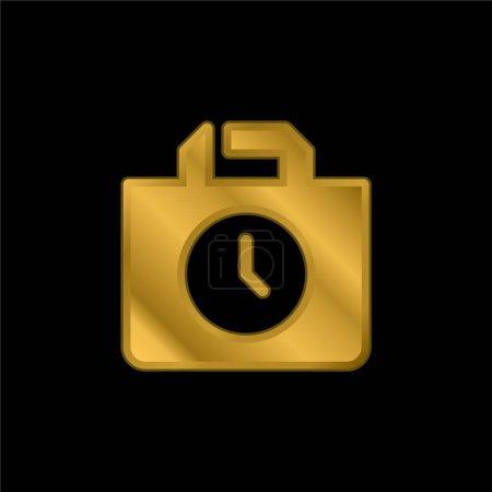 Photo pour Sac icône métallique plaqué or ou logo vecteur - image libre de droit