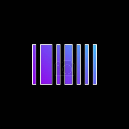 Barcode blue gradient vector icon
