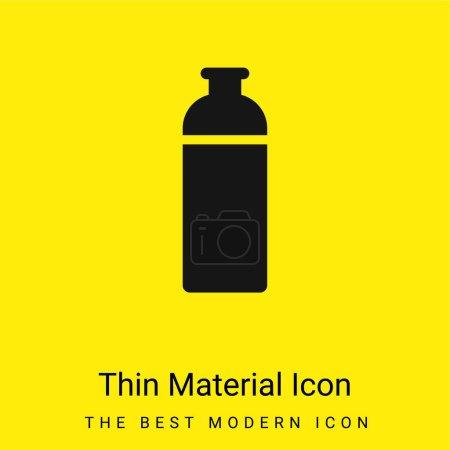 Illustration pour Bouteille minimale icône matériau jaune vif - image libre de droit
