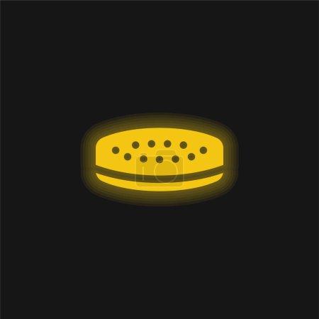 Balance yellow glowing neon icon