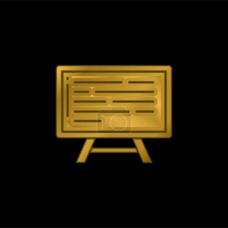 Illustration pour Plateau plaqué or icône métallique ou logo vecteur - image libre de droit
