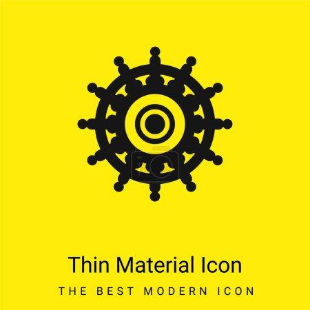 Illustration pour Big Helm minime icône matérielle jaune vif - image libre de droit