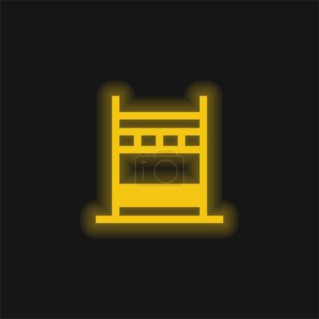 Illustration pour Pont jaune brillant icône néon - image libre de droit