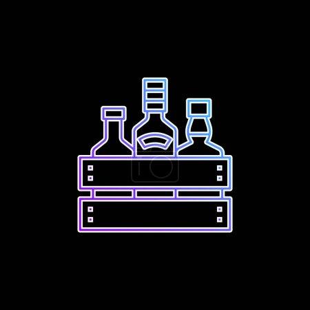 Illustration pour Icône vectorielle de dégradé bleu alcool - image libre de droit