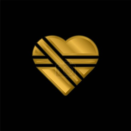 Illustration for Bandage gold plated metalic icon or logo vector - Royalty Free Image
