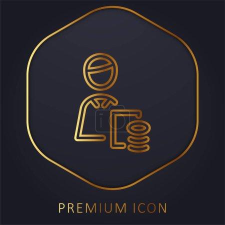 Illustration pour Ligne d'or comptable logo premium ou icône - image libre de droit