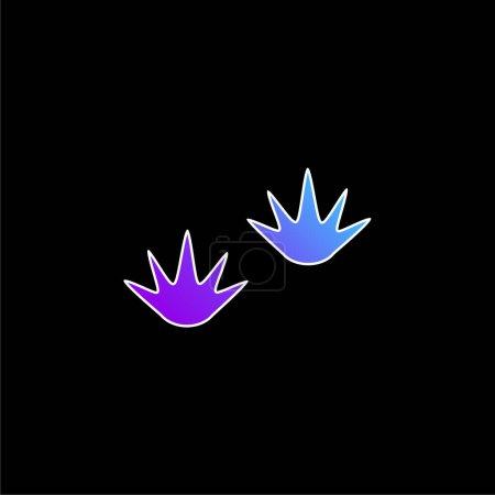 Photo pour Icône vectorielle de dégradé bleu - image libre de droit
