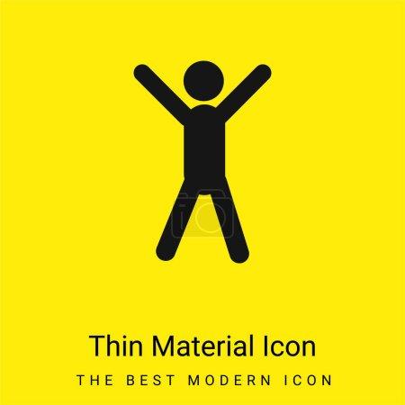 Illustration pour Bras Up minime icône de matériau jaune vif - image libre de droit