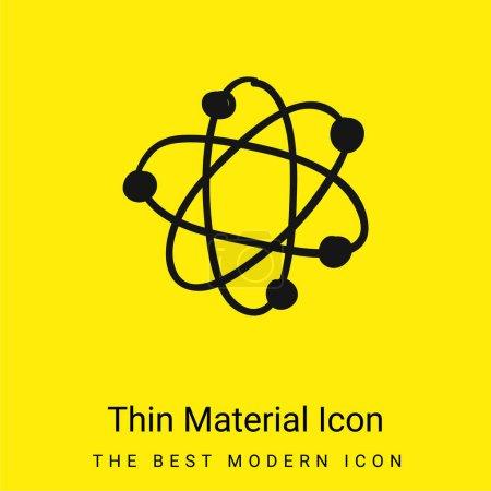 Illustration pour Atom minimal icône de matériau jaune vif - image libre de droit