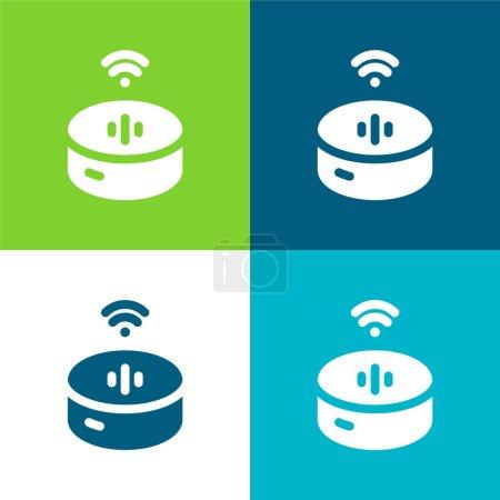 Alexa Flat four color minimal icon set
