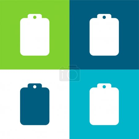 Photo for Blank Clipboard Flat four color minimal icon set - Royalty Free Image