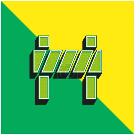 Illustration for Barrier Green and yellow modern 3d vector icon logo - Royalty Free Image