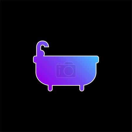 Bathtube blue gradient vector icon