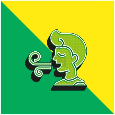 Illustration for Bad Breath Green and yellow modern 3d vector icon logo - Royalty Free Image
