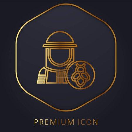 Photo pour Apiculteur ligne d'or logo premium ou icône - image libre de droit