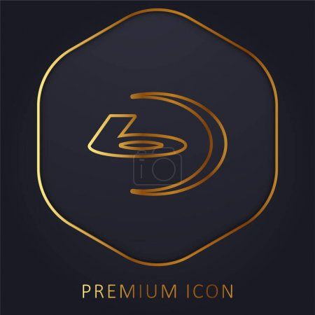 Illustration pour Bluray Big Logo ligne d'or logo premium ou icône - image libre de droit