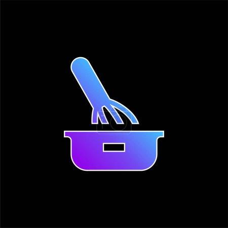 Illustration pour Icône vectorielle gradient bleu cuisson - image libre de droit