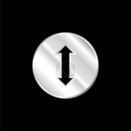 Illustration pour Flèche bidirectionnelle argent plaqué icône métallique - image libre de droit