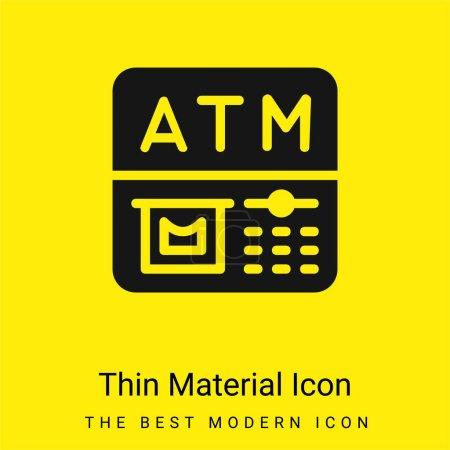 Illustration pour ATM minime icône matériau jaune vif - image libre de droit