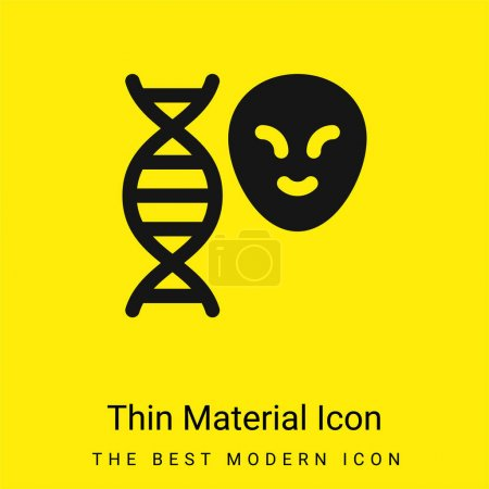 Illustration for Alien minimal bright yellow material icon - Royalty Free Image