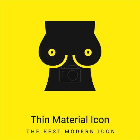 Illustration pour Poitrine minime jaune vif icône matérielle - image libre de droit