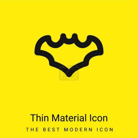 Bat minimal bright yellow material icon
