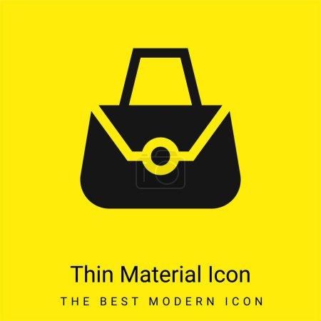 Illustration pour Sac minime icône matériau jaune vif - image libre de droit