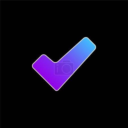 Illustration pour Approuver Signal bleu dégradé vecteur icône - image libre de droit