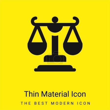Photo pour Balance minimale jaune vif icône matérielle - image libre de droit