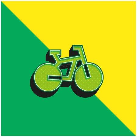 Foto de Bicicleta verde y amarillo moderno vector 3d icono del logotipo - Imagen libre de derechos