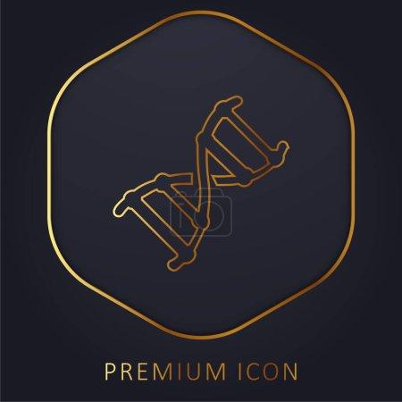 Photo pour Ligne d'or Biotech logo premium ou icône - image libre de droit