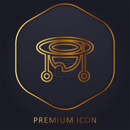 Baby Walker goldene Linie Premium-Logo oder Symbol