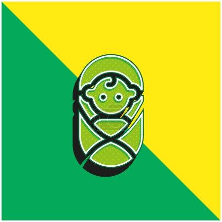 Photo pour Bébé Vert et jaune moderne icône vectorielle 3d logo - image libre de droit