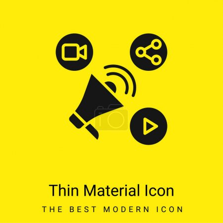 Illustration for Advertising minimal bright yellow material icon - Royalty Free Image