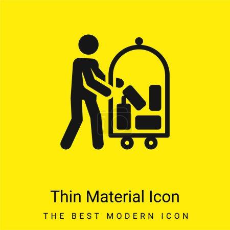 Illustration pour Icône matérielle jaune vif minimale Bellboy - image libre de droit