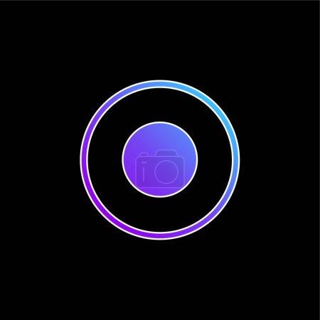 Atom Circular Symbol Of Circles blue gradient vector icon
