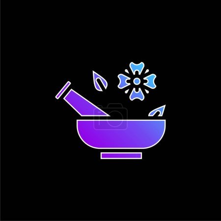 Illustration for Aromatherapy blue gradient vector icon - Royalty Free Image