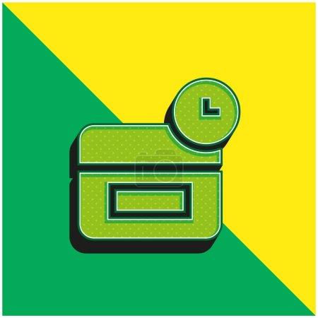 Illustration pour Logo vectoriel 3D moderne anti-âge vert et jaune - image libre de droit