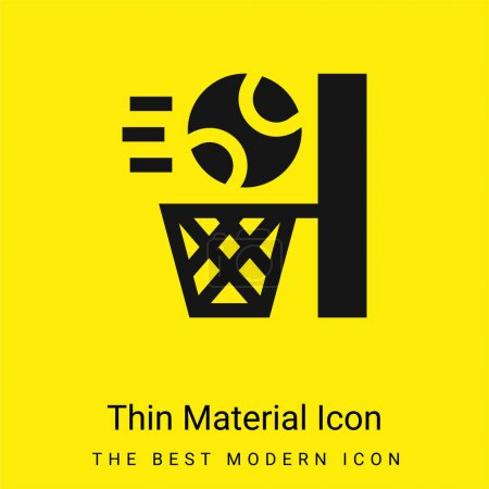 Illustration for Basketball minimal bright yellow material icon - Royalty Free Image