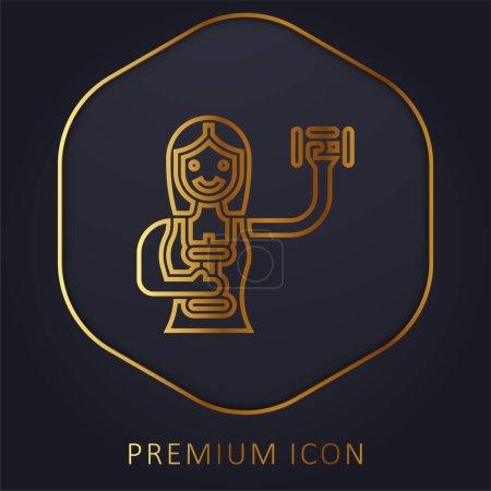 Illustration pour Aérobic ligne d'or logo premium ou icône - image libre de droit