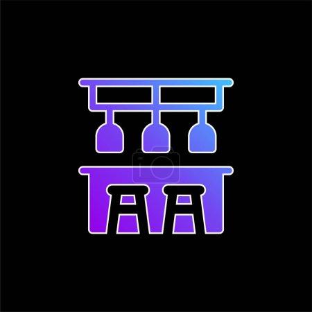 Illustration pour Bar Icône vectorielle de dégradé bleu - image libre de droit