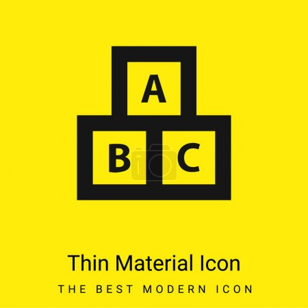 ABC Cubes For Education minimal bright yellow material icon