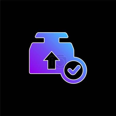 Illustration pour Icône vectorielle de dégradé bleu - image libre de droit