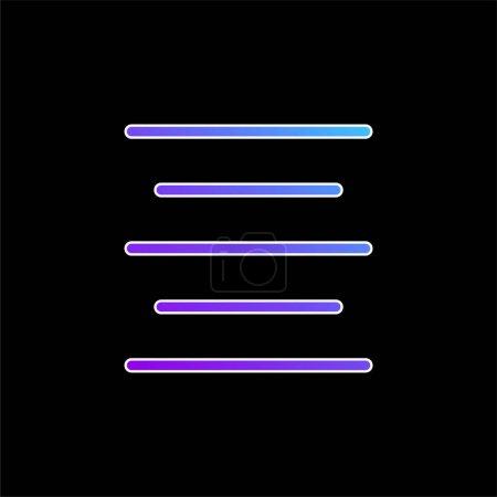 Photo pour Aligner l'icône vectorielle de dégradé bleu centre - image libre de droit