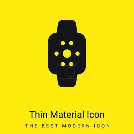 Apple Watch minimal bright yellow material icon