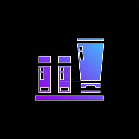 Illustration pour Commodités icône vectorielle dégradé bleu - image libre de droit