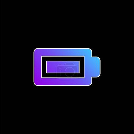 Illustration pour Batterie Icône vectorielle dégradé bleu complet - image libre de droit
