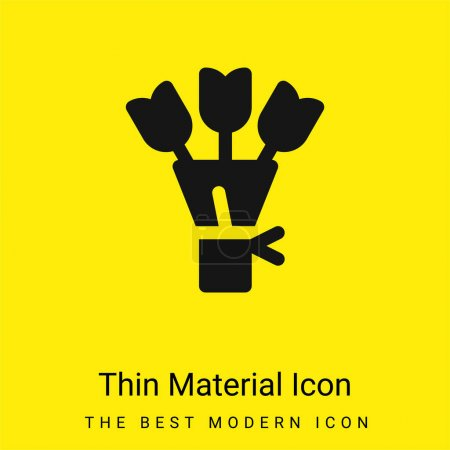 Illustration for Bouquet minimal bright yellow material icon - Royalty Free Image
